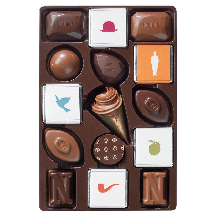 Neuhaus René Magritte tin (40 pieces) DeMeersman Luxury Chocolate