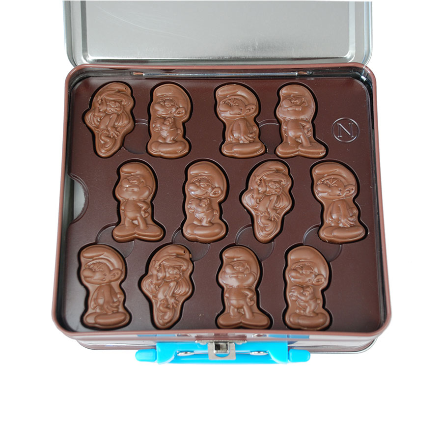 Neuhaus Smurfs Tin Keepsake Box (24 pcs) DeMeersman Luxury Chocolate